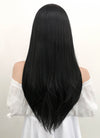 The Addams Family Morticia Addams Long Straight Natural Black Lace Front Synthetic Hair Wig LF003 - CosplayBuzz