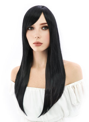 DC Comics Wonder Woman Lynda Carter Cosplay Medium Curly Natural Black Lace Front Wig LF198