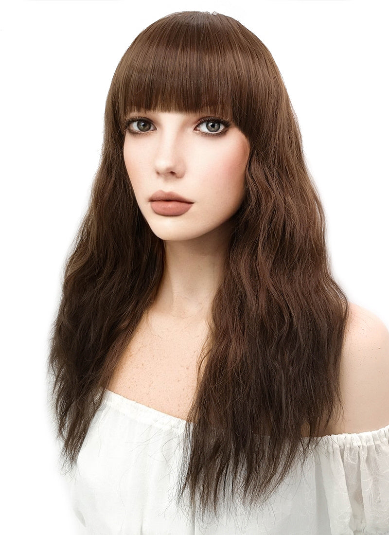 Long Wavy Chestnut Brown Cosplay Wig CM103 - CosplayBuzz