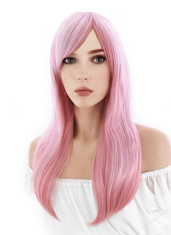 Kantai Collection / KanColle Atago Long Light Blonde Anime Cosplay Wig TBZ964A