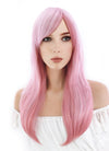 Super Sonico Sonico Long Wavy Mixed Pink Anime Cosplay Wig CM122A
