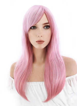 Super Sonico Sonico Long Wavy Mixed Pink Anime Cosplay Wig CM122A - CosplayBuzz