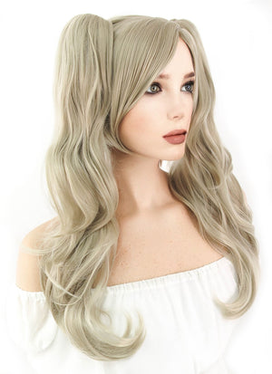 Persona5 Anne Takamaki Long Blonde Anime Cosplay Wig + Ponytails CM222A - CosplayBuzz
