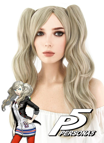 "24"" Long Curly Ash Blonde Cosplay Wig MS149"