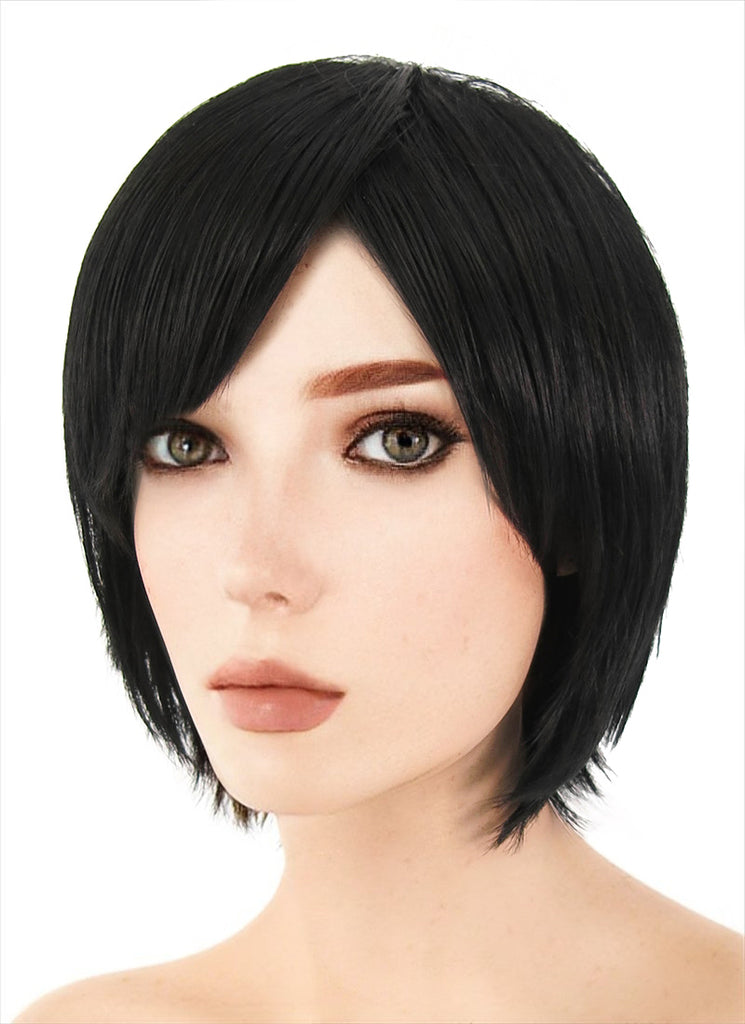 25CM Short Straight Black Cosplay Wig CM223 - CosplayBuzz