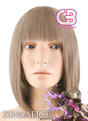 SINoALICE Hansel Gretel Medium Light Brown Anime Cosplay Wig CM226