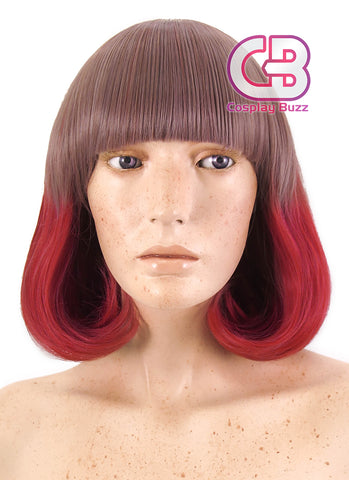 40CM Medium Wavy Dark Blue Cosplay Wig CM096