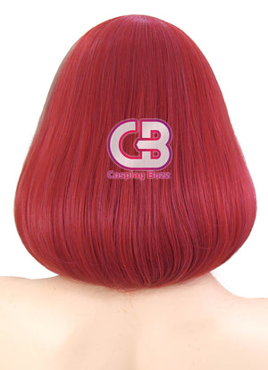 Short Wavy Purple Mixed Red Cosplay Wig CM229 - CosplayBuzz
