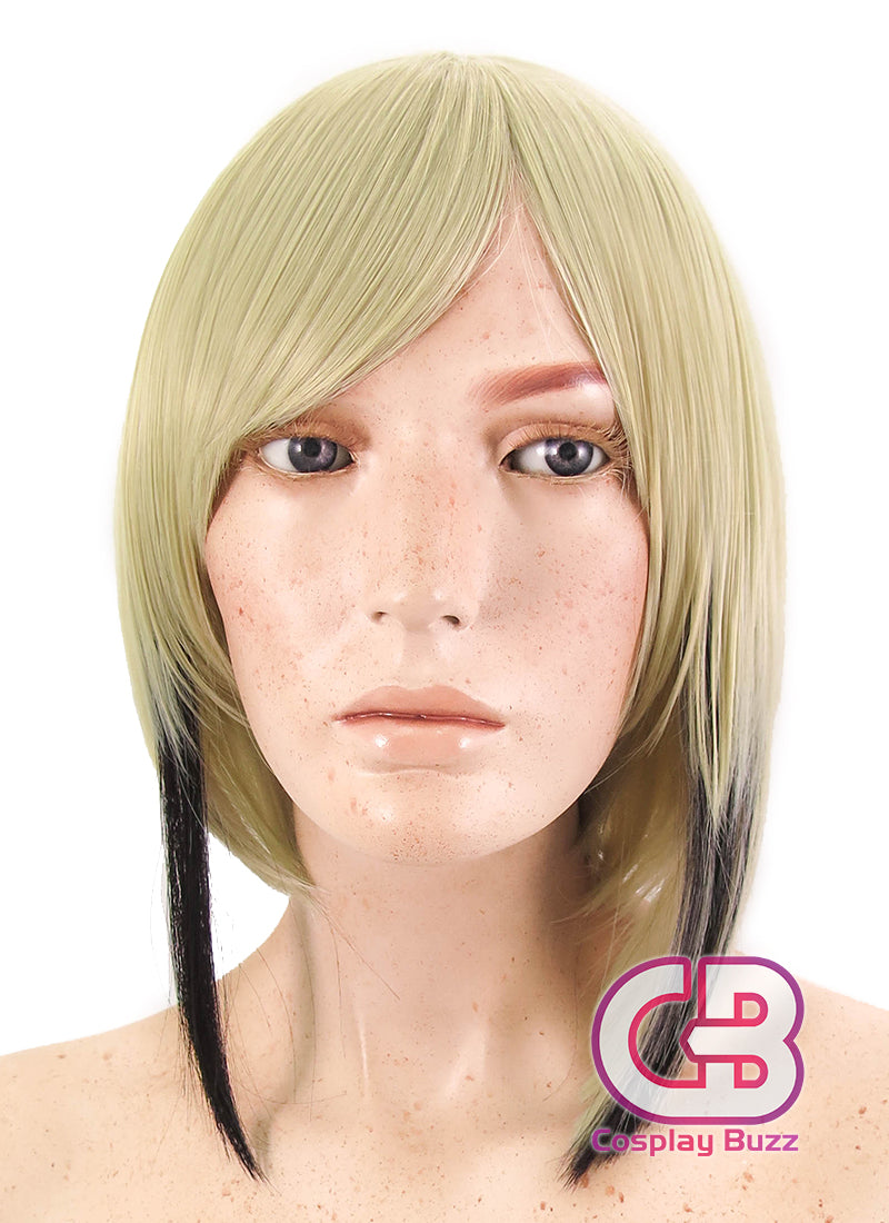 Touken Ranbu Hyuuga Masamune Short Blonde Mixed Black Anime Cosplay Wig CM230 - CosplayBuzz