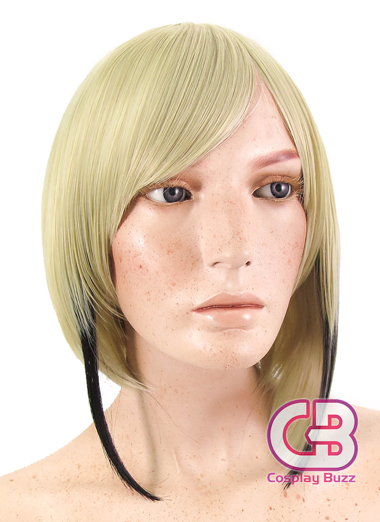 Touken Ranbu Hyuuga Masamune Short Blonde Mixed Black Anime Cosplay Wig CM230