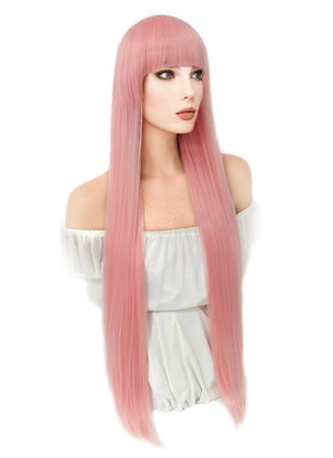 Darling in the FranXX Zero Two Straight Pink Anime Cosplay Wig CM245 - CosplayBuzz