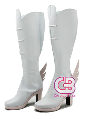 Kill la Kill Jyakuzure nonon Custom-Made White Shoes / Boots CPA072 - CosplayBuzz