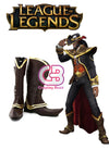 League of Legends LOL Twisted Fate Custom-Made Brown Shoes / Boots CPA102 - CosplayBuzz