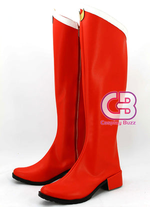 Sailor Moon Sailor Serena Tsukino Custom-Made Red Shoes / Boots CPA110 - CosplayBuzz