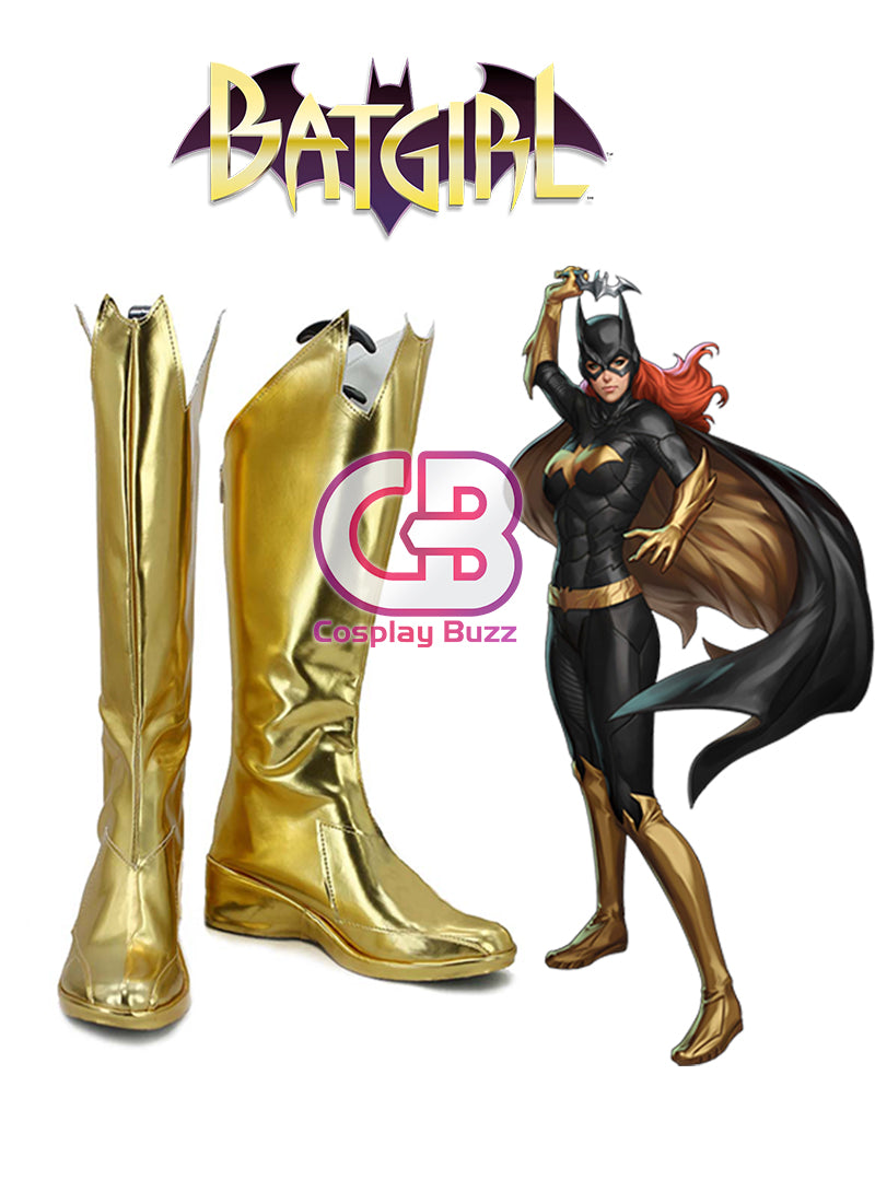 DC Batgirl Custom-Made Golden Shoes / Boots CPA124 - CosplayBuzz