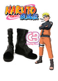 Naruto Uzumaki Custom-Made Black Shoes CPA125 - CosplayBuzz