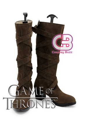 Game of Thrones Daenerys Targaryen Custom-Made Brown High Heel Shoes / Boots CPA150 - CosplayBuzz