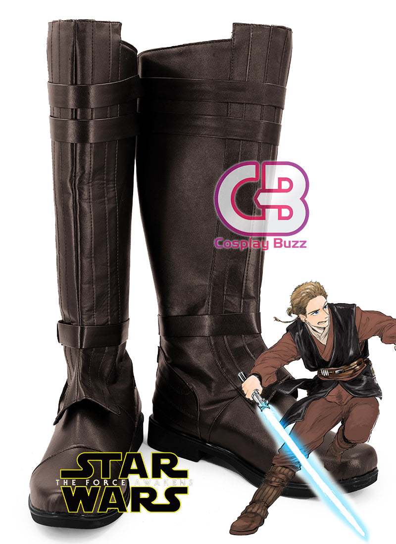 Star Wars Anakin Skywalker Custom-Made Brown Shoes / Boots CPA157