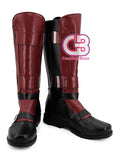 Marvel Deadpool Custom-Made Red Shoes / Boots CPA162