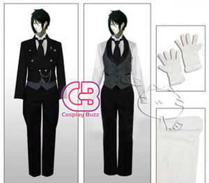 Black Butler Sebastian Michaelis Customizable Anime Cosplay Costume CS011C - CosplayBuzz
