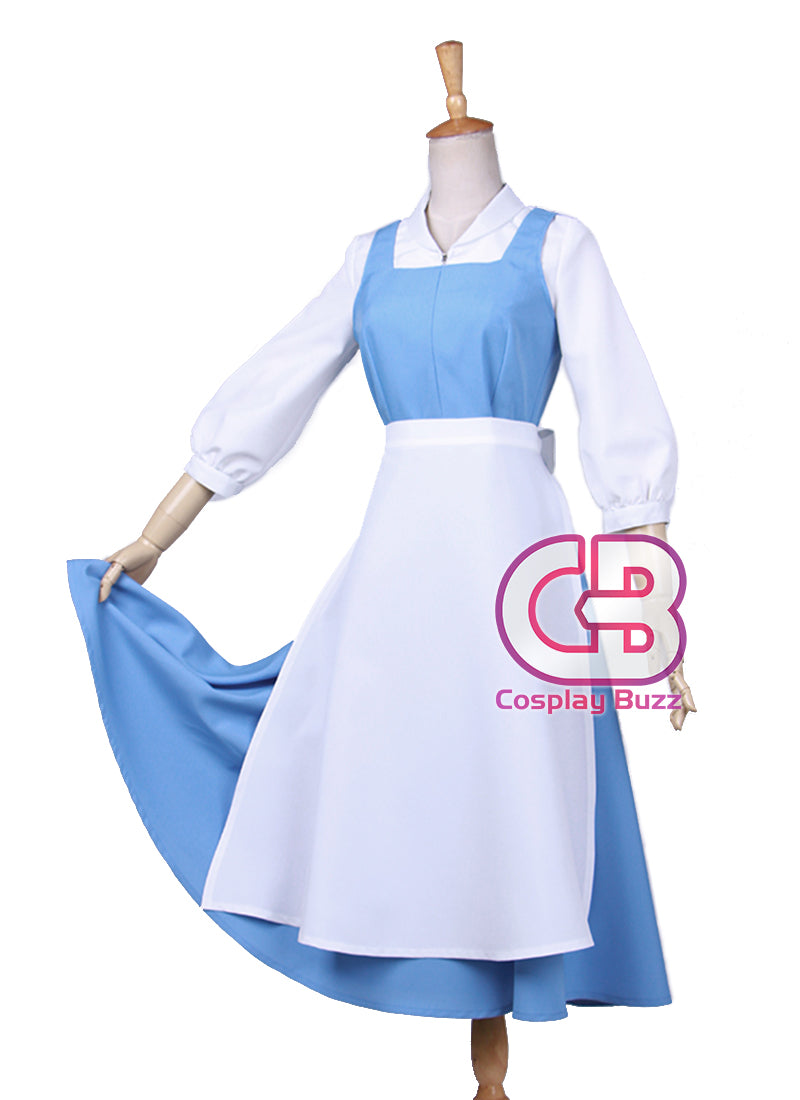 6c5f4dde3a Beauty and the Beast Belle Anime Cosplay Costume Maid Dress CS569 .