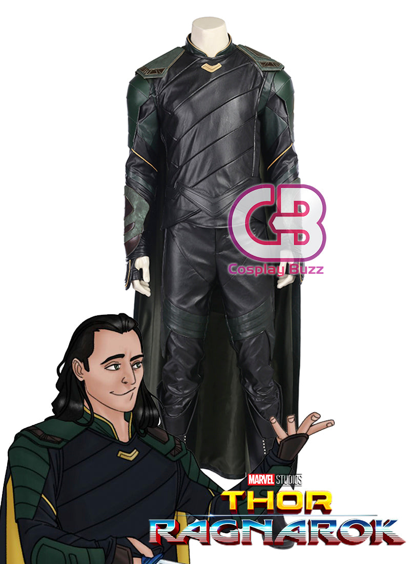Marvel Thor: Ragnarok Loki Customizable Cosplay Costume Outfit CS606 - CosplayBuzz