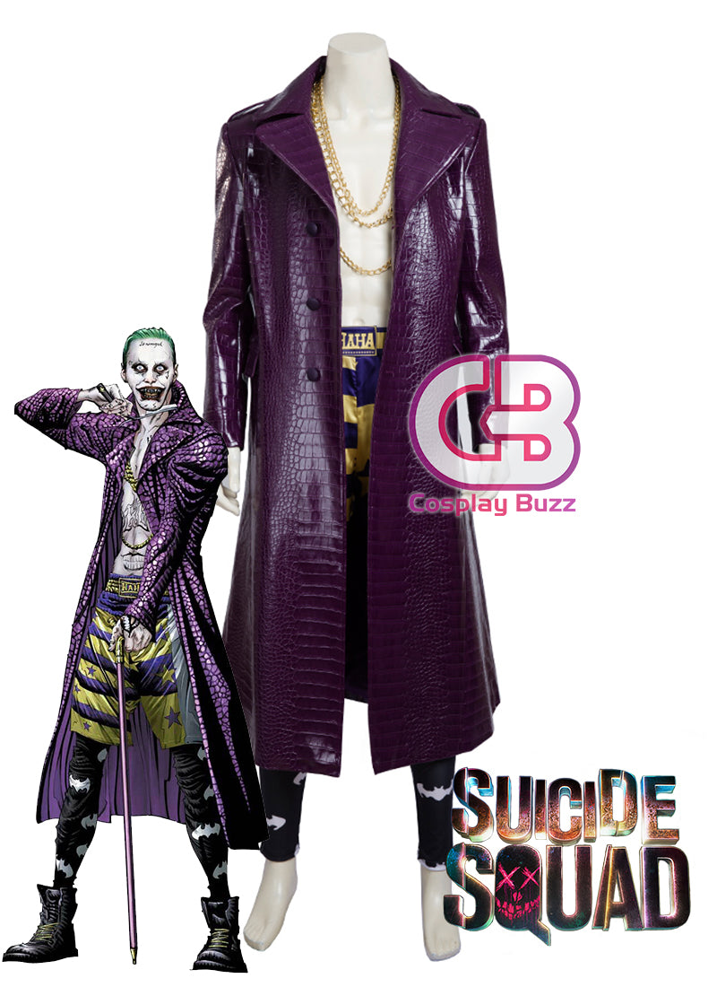 Suicide Squad Joker Customizable Anime Cosplay Costume CS613 - CosplayBuzz