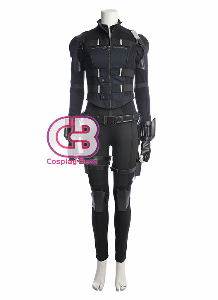 Marvel Comics Avengers: Infinity War Black Widow Customizable Anime Cosplay Costume Outfit CS624