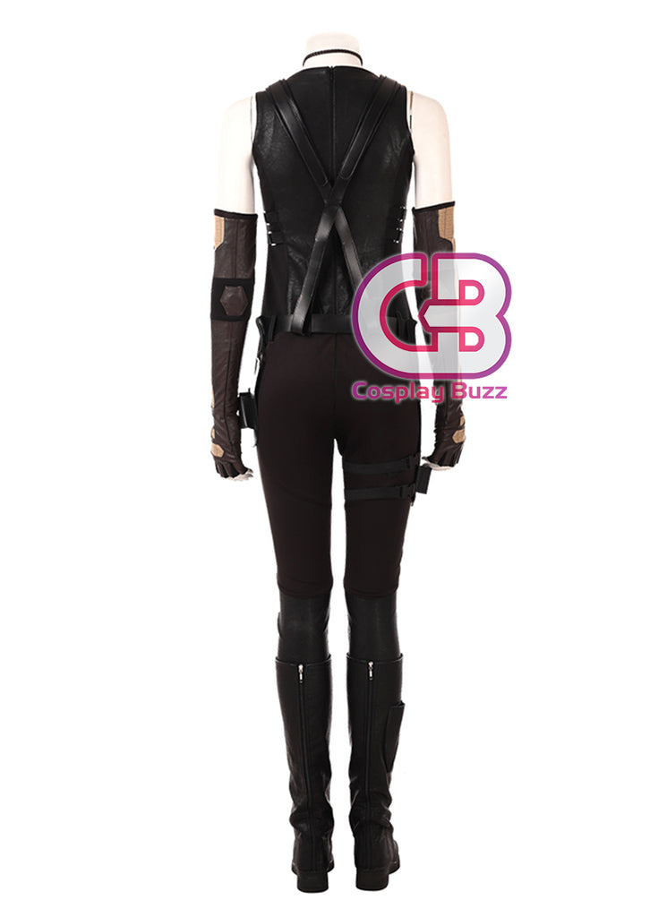 Marvel Deadpool 2 Domino Customizable Cosplay Costume Outfit CS645