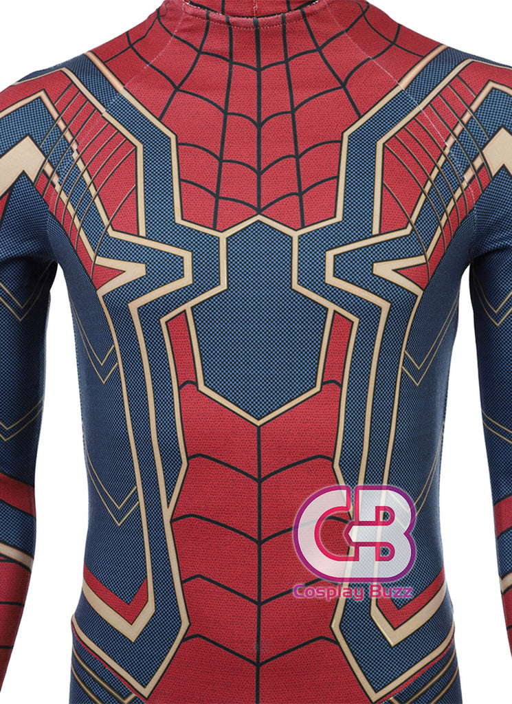 Marvel Avengers: Infinity War Spider-Man Customizable Cosplay Costume Outfit CS647