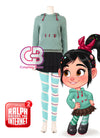 Ralph Breaks the Internet: Wreck-It Ralph 2 Vanellope von Schweetz Customizable Cosplay Costume Outfit CS652 - CosplayBuzz