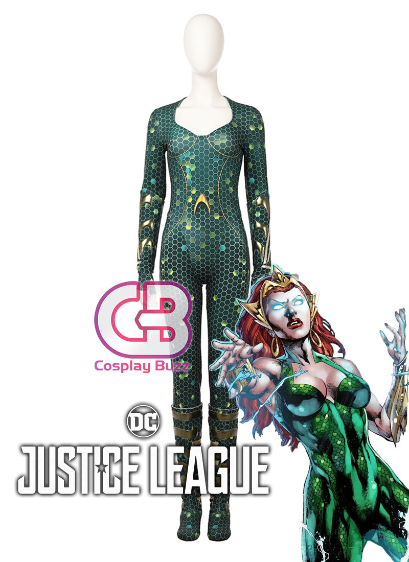 DC Justice League Aquaman Mera Customizable Cosplay Costume Outfit CS680
