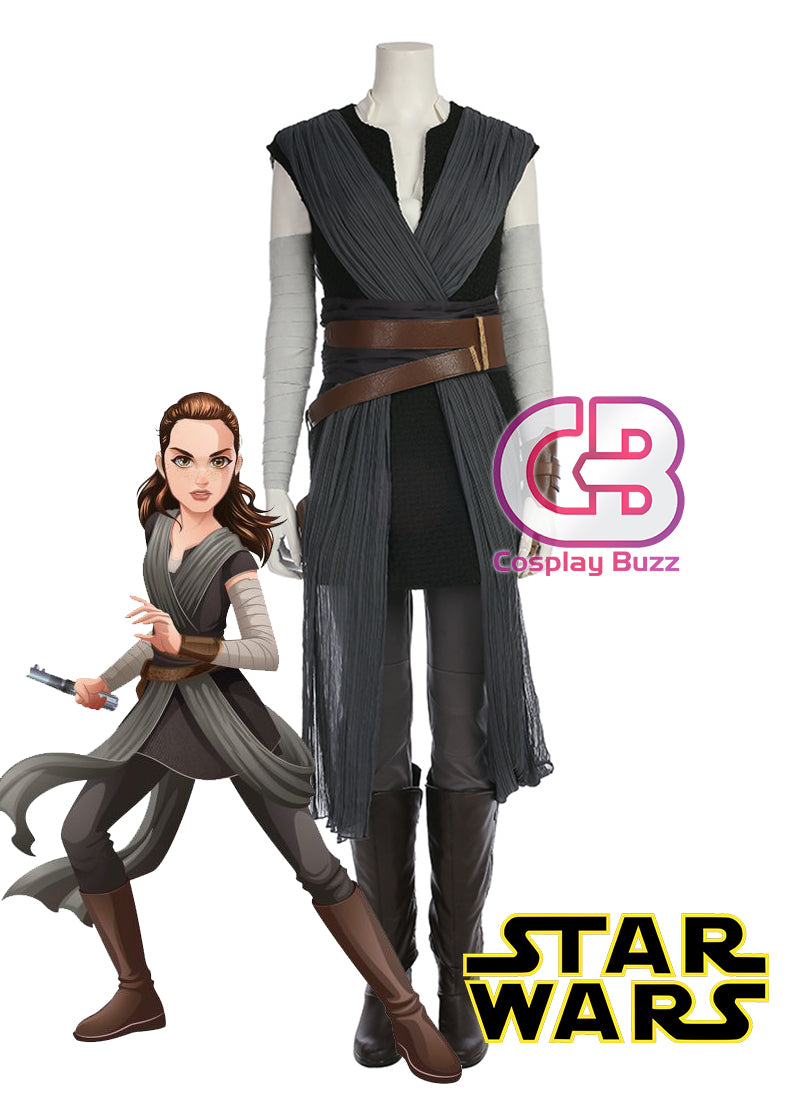 Star Wars: The Last Jedi Rey Customizable Cosplay Costume Outfit CS687