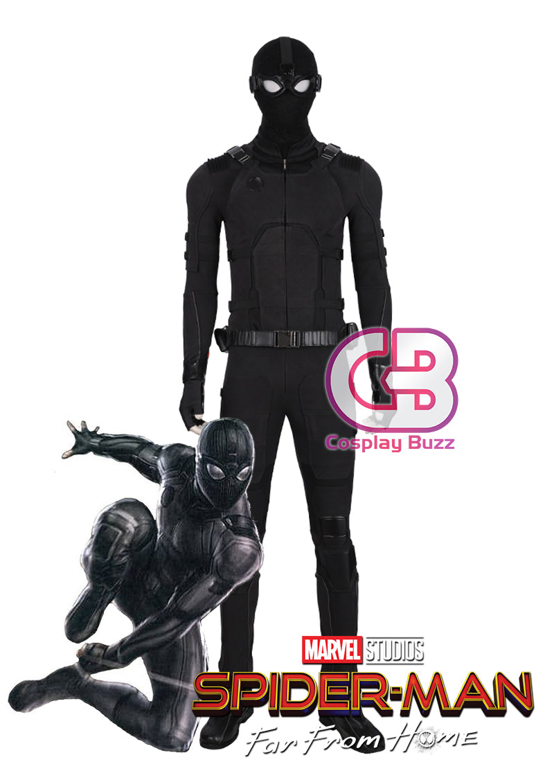 Marvel Spider-Man: Far From Home Peter Parker SpiderMan Stealth Suit Customizable Cosplay Costume Outfit CS708 - CosplayBuzz