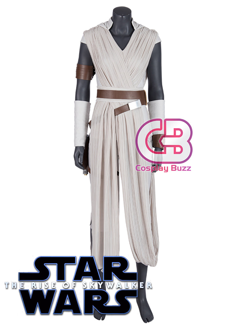 Star Wars: The Rise of Skywalker Rey Cosplay Costume Outfit CS713