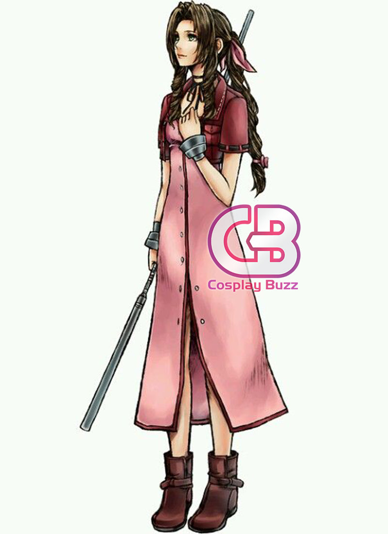 Final Fantasy VII Remake Aerith Gainsborough Customizable Cosplay Costume Outfit CS719 - CosplayBuzz