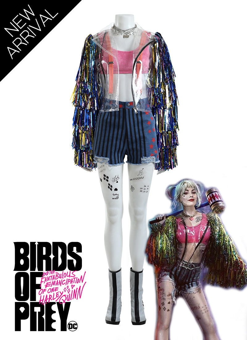 DC Birds of Prey (And the Fantabulous Emancipation of One Harley Quinn) Customizable Cosplay Costume Outfit CS738