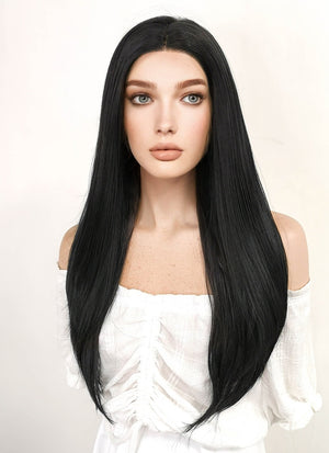 Marvel X-Men Lilith Cosplay Long Straight Jet Black Lace Front Wig LF002