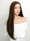 Long Straight Brown Lace Front Synthetic Hair Wig LF006 - CosplayBuzz