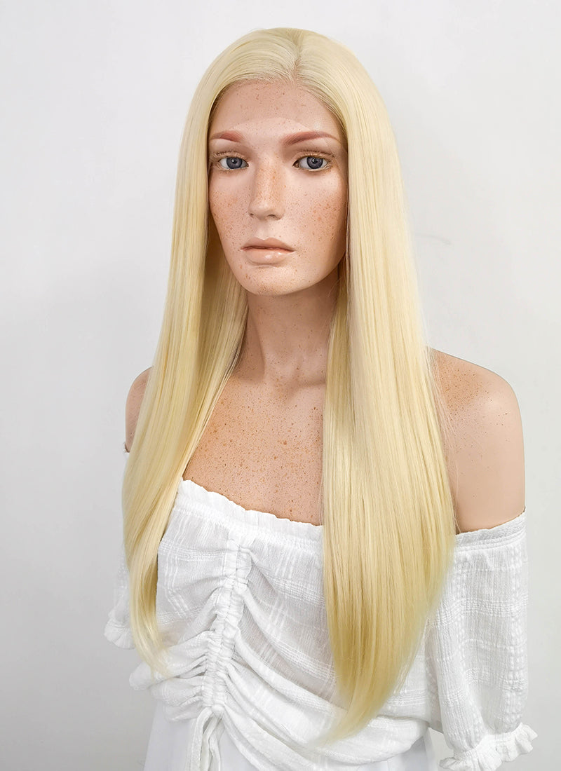 Long Straight Blonde Lace Front Synthetic Hair Wig LF012 - CosplayBuzz