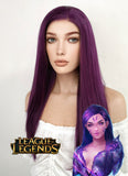 League of Legends Kai'Sa Long Straight Dark Purple Lace Front Synthetic Hair Wig LF029 - CosplayBuzz