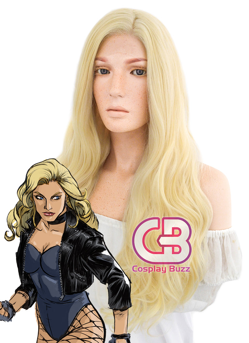 DC Black Canary Cosplay Long Curly Wavy Golden Blonde Lace Front Wig LF080 - CosplayBuzz