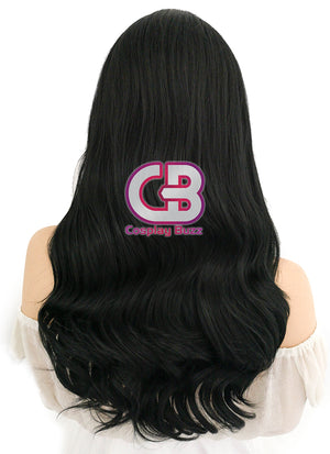 Long Curly Black Lace Front Synthetic Hair Wig LF110 - CosplayBuzz