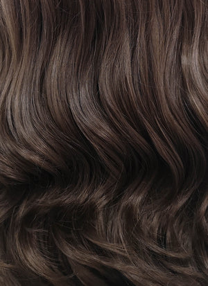Disney Beauty and the Beast Belle Long Curly Dark Brown Lace Front Synthetic Hair Wig LF117 - CosplayBuzz