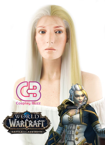 07-Ghost Frau Short Golden Blonde Anime Cosplay Wig ZB091A