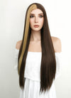 Long Straight Blonde Mixed Brown Lace Front Synthetic Hair Wig LF1303 - CosplayBuzz