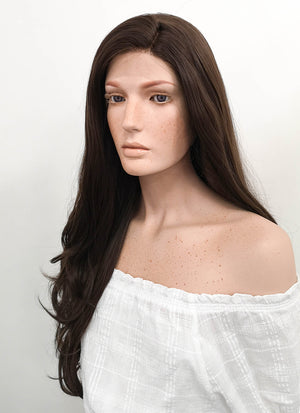 Long Wavy Dark Brown Lace Front Synthetic Hair Wig LF146 - CosplayBuzz
