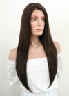 Long Straight Dark Brown Lace Front Synthetic Hair Wig LF150 - CosplayBuzz