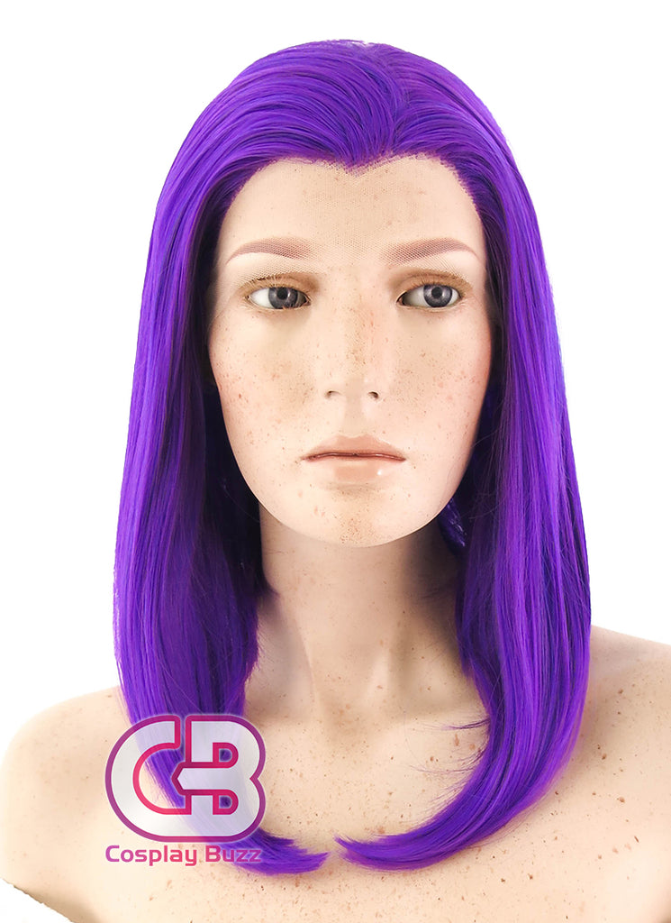DC Comics Raven Medium Wavy Purple Lace Front Synthetic Hair Wig LF1602