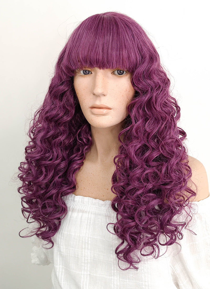 Long Curly Purple Lace Front Synthetic Hair Wig LF1745 - CosplayBuzz